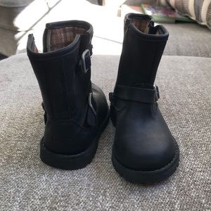 Children's UGG black leather boots